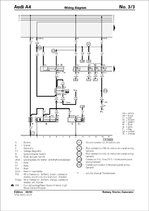 Audi - Audi Repair Manual  A4  1996-2001